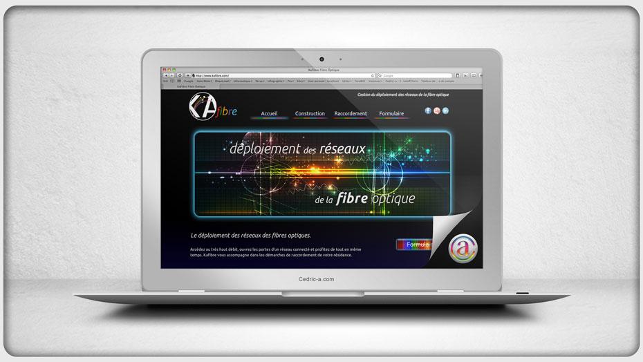Site Kafibre par Cedric Ayachi